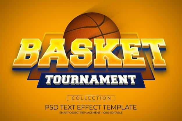 Effet de texte de tournoi de basket-ball