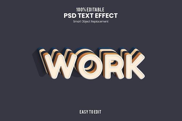 Effet de texte de travail