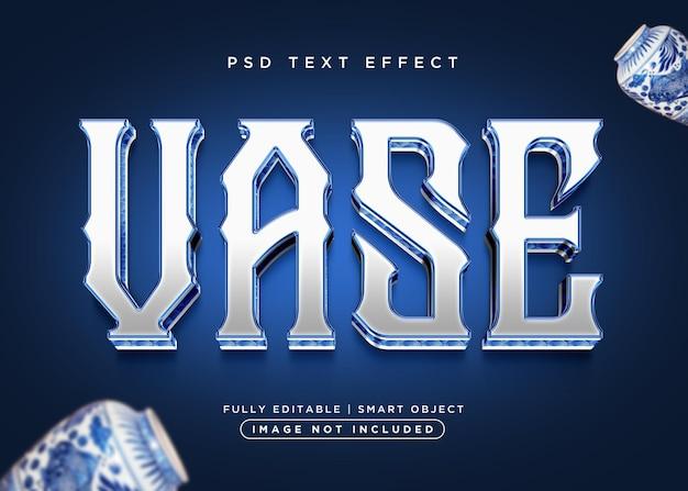 Effet de texte de vase de style 3d
