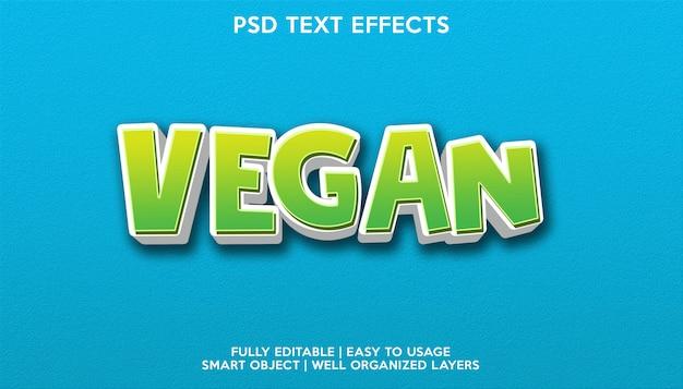 Effet de texte végétalien