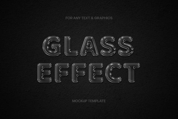 Effet de texte en verre transparent