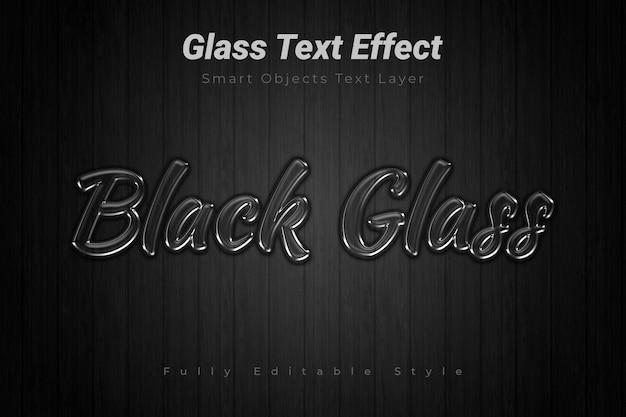 Effet de texte en verre