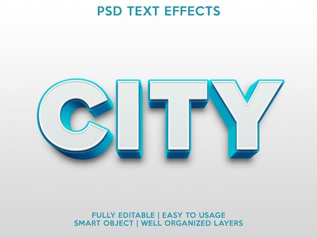 Effet de texte de ville