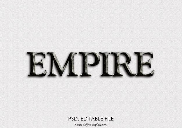 Effet de texte vintage rétro empire