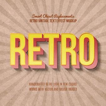Effet de texte vintage retro