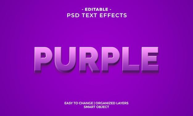 Effet de texte violet coloré génial