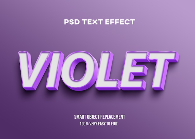 Effet de texte violet gras fort
