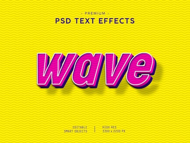 Effet de texte wave