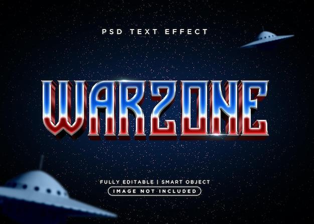 Effet de texte de zone de guerre de style 3d