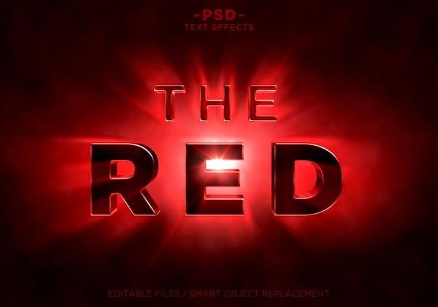 Les effets des rayons de lumière rouge brillant