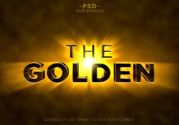 Les effets des rayons lumineux golden shine
