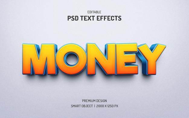 Effets de style de texte modifiables réalistes en 3d