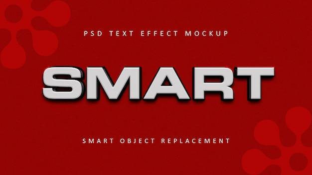 Effets de texte 3d intelligents