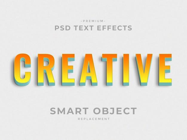 Effets de texte créatifs 3d style de calque photoshop