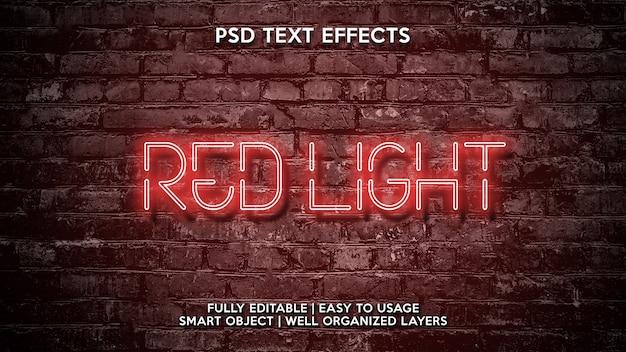 Effets de texte en lumière rouge