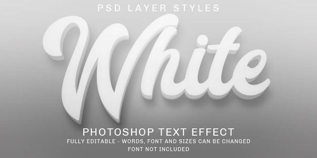 Effets de texte modifiables blancs créatifs