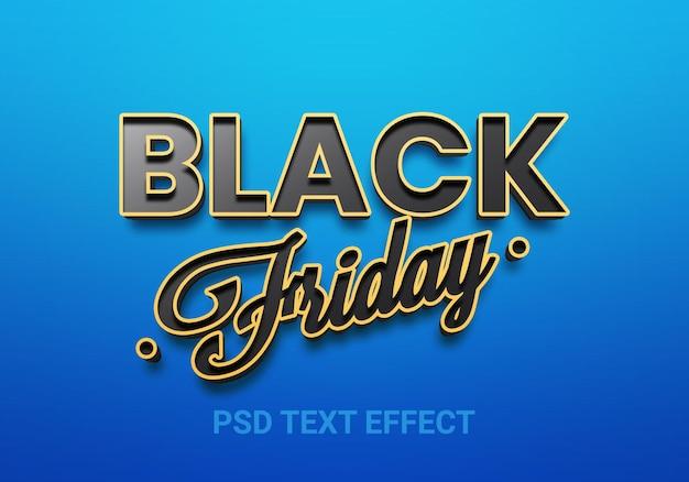 Effets de texte modifiables de style vendredi noir créatif