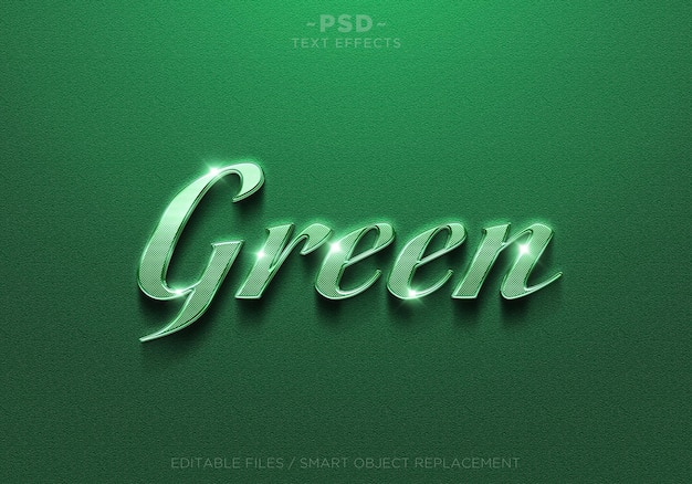 Effets de texte modifiables verts