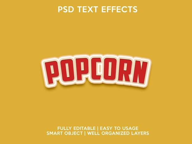 Effets de texte pop-corn