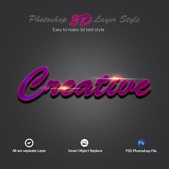 Effets de texte de style de calque photoshop 3d
