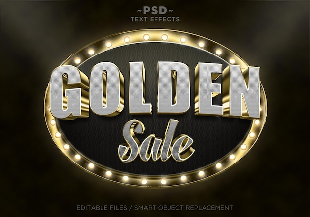 Effets de texte de vente d'or