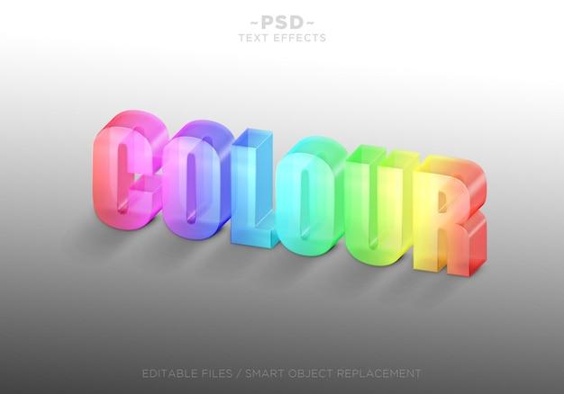 Effets de texte en verre de couleur