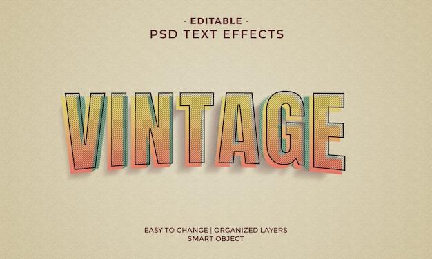 Effets de texte vintage colorés impressionnants
