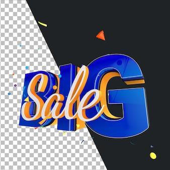 Élément de conception de vente de bannière de rendu 3d