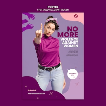Élimination de la violence à l'égard des femmes poster a4