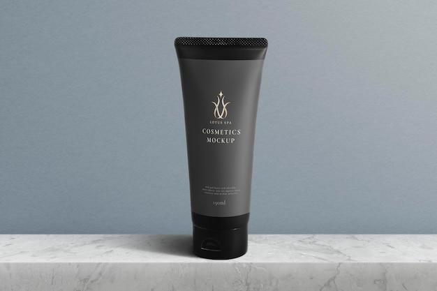 Emballage de beauté psd de maquette de produit de tube cosmétique