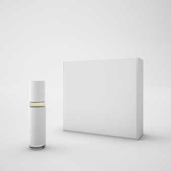 Emballage blanc et rouge à lèvres