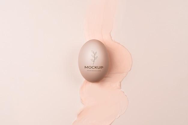 Emballage cosmétique crème avec splash