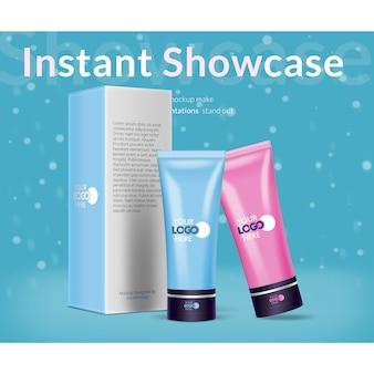 Emballage cosmétique mock up