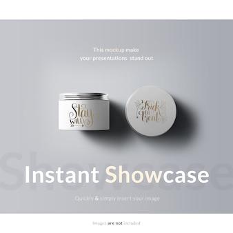Emballage de crème mock up
