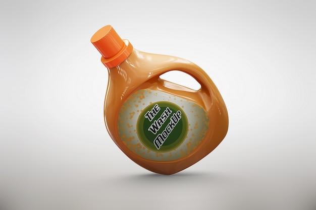 Emballage détergent à l'orange se moque