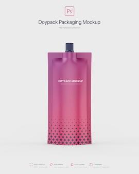 Emballage doypack avec maquette de bec supérieur