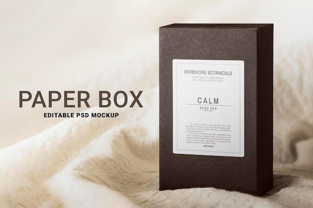 Emballage de maquette psd de la boîte de produit dans un style minimal