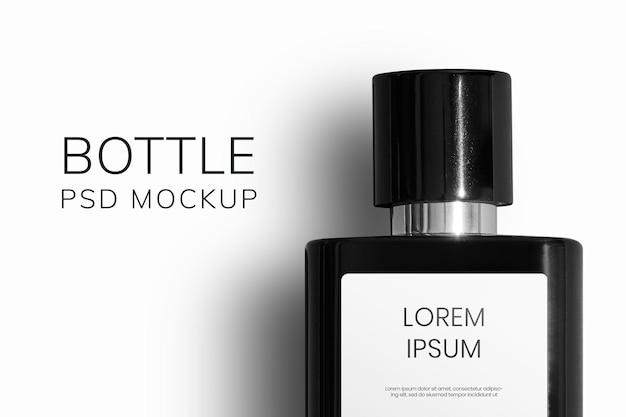 Emballage de produit de beauté psd de maquette de bouteille de parfum de luxe