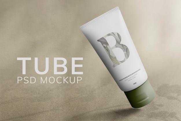 Emballage de produit de beauté psd de maquette de tube de soin de la peau minimal