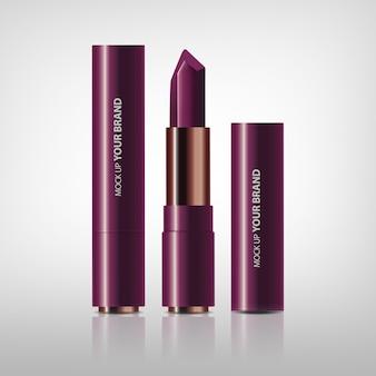 Emballage de rouge à lèvres cosmétique