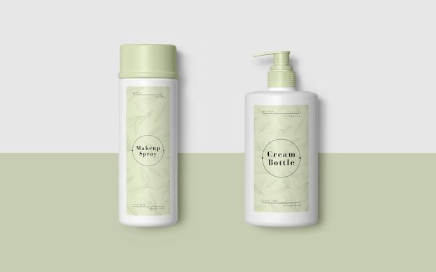 Emballage vert de produits cosmétiques