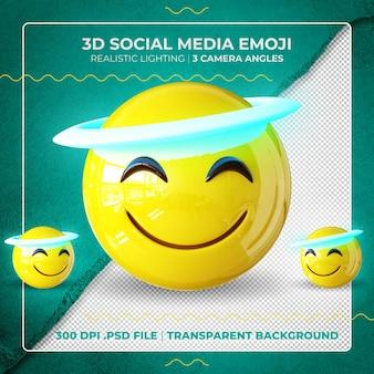 Emoji 3d ange isolé