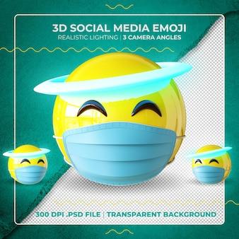 Emoji 3d d'ange masqué