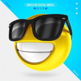 Emoji 3d avec des lunettes noires