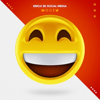 Emoji 3d très heureux et un sourire très joyeux