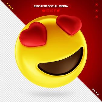 Emoji coeur 3d pour le maquillage
