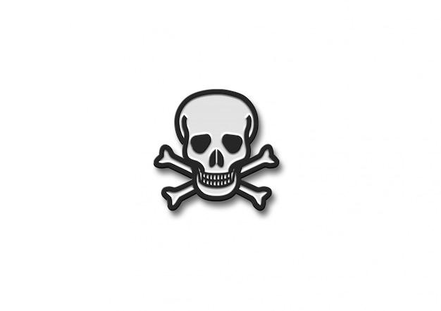 Emoji de conception de logo 3d danger