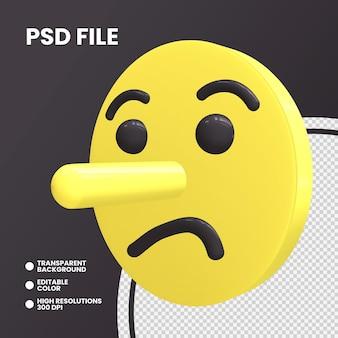 Emoji pièce de monnaie de rendu 3d isolé visage couché