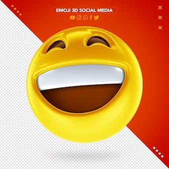 Emoji visage heureux 3d