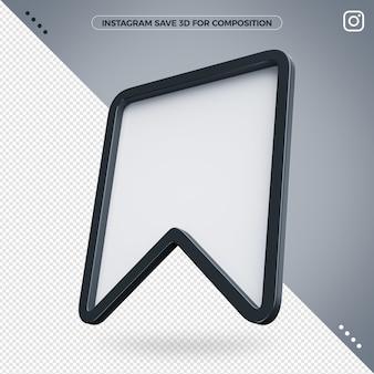 Enregistrer l'icône 3d instagram pour la composition